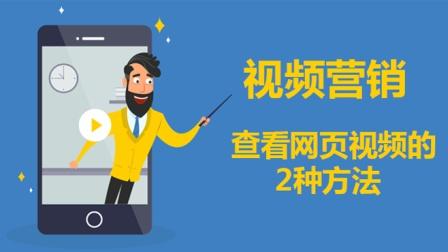 王子峰:查看网页视频的2种方法