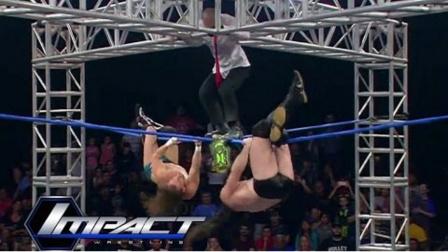 TNA摔角2017 5 18 带你领略不一样的梯子大战 金腰带是这么夺得