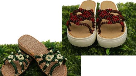 巧手女工编织坊 比翼双飞凉鞋教学视频手工凉鞋编织方法夏季凉鞋编织上集