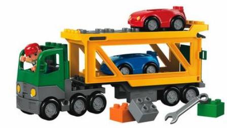 迷你卡车冒险 挖掘机装车视频表演大全 儿童大吊车大卡车视频
