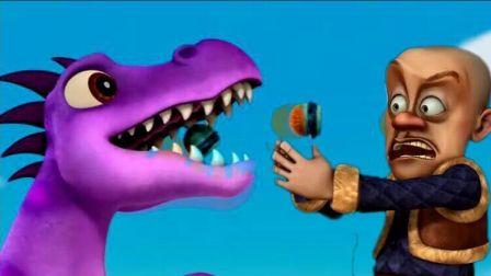 熊出没熊大熊二光头强吓坏 恐龙世界恐龙战队蜘蛛侠