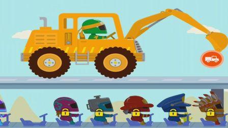 汽车工程车组装游戏 闪电赛车挖掘机组装驾驶 汽车赛车总动员铲车推土破碎锤