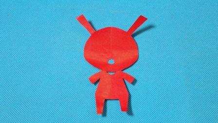 剪纸小课堂349:小兔子2 儿童剪纸教程大全 亲子手工DIY教学 简单剪纸艺术