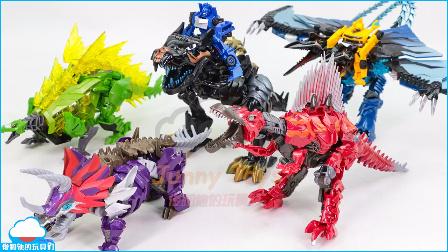 变形金刚4 绝迹重生 大黄蜂 改造工厂 钢锁 卡通 棘龙金刚 藐视 机器恐龙 浪花 战士 嚎叫 机器恐龙 扫射 飞镖 恐龙机器人玩具 【 俊和他的玩具们 】