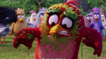 愤怒的小鸟: 神鹰要去救蛋却飞不起来, 害得胖红被喷了一脸鼻涕