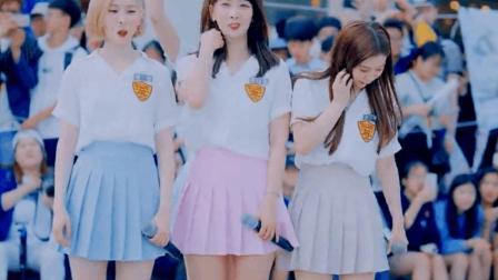 清纯高中生校园演绎性感舞姿, 大长腿太过抢眼!