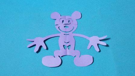 剪纸小课堂353:米老鼠 剪纸教程大全 儿童亲子手工DIY教学 简单剪纸艺术