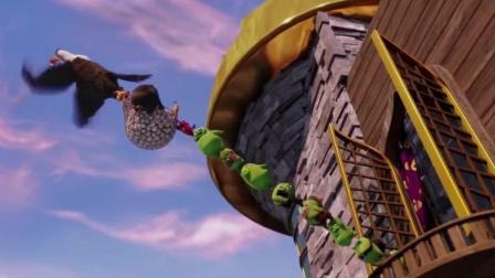 愤怒的小鸟: 蠢猪把胖红的房子毁了, 现在活该自己的房子被砸个稀碎