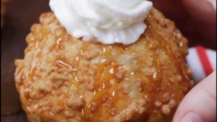 自制苹果派甜甜圈, 健康又好吃, 赶紧试试吧