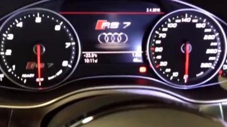 200万的奥迪RS7跑车, 上了高速, 兰博基尼都不敢随意超车!