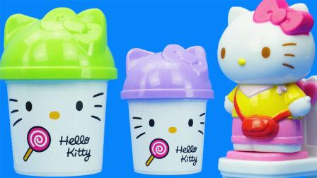 玩乐三分钟 HelloKitty 雪糕制作套装 凯蒂猫 过家家玩具