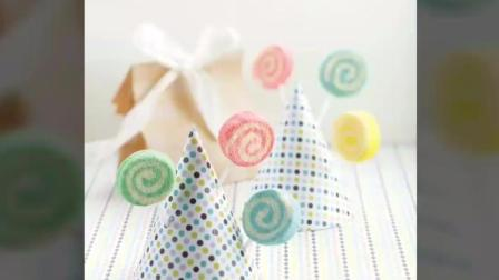 怎样制作多彩蛋糕棒棒糖Lollipop Chiffon Pops by Susanne Ng 《@susanne.decochiffon》