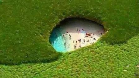 神秘岛屿藏着一个海滩, 要会潜水才能进去, 人间少有的世外桃源