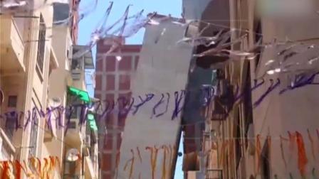 埃及一大楼倾塌,犹如比萨斜塔