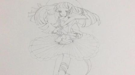 手绘漫画, 教你怎么用HB铅笔画一个日本美少女