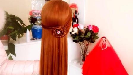 最时尚的玫瑰花披肩发新发型! 一步一步教你简单漂亮编发视频教程