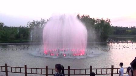 辛集润泽湖美景之—喷泉