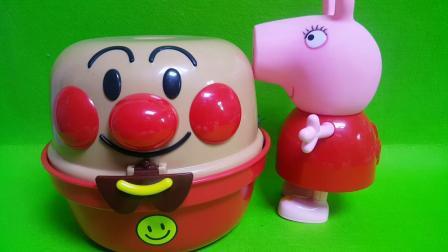 小猪佩奇拆面包超人礼物盒神秘礼物健达奇趣蛋