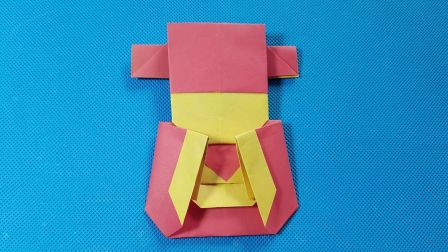 折纸王子教你折纸小财神 8分钟学会折纸财神爷 讲解详细 简单易学