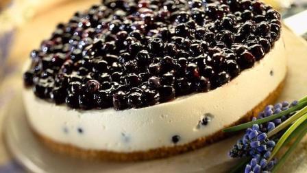 微食光—免烤无蛋无奶油蓝莓起司蛋糕