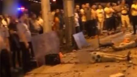 外墙砖意外脱落,3人被击中倒地不起
