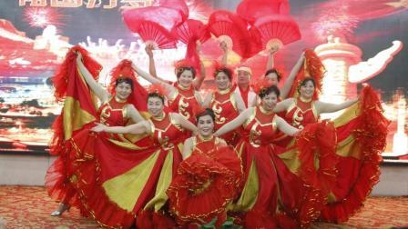 歌曲《祝福祖国》舞蹈表演 西安豫本草生物科技有限公司典礼会 河南火豹影印文化传媒刘强