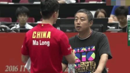 日本一哥挑战中国乒乓, 马龙发飙, 解说: 太惨了, 太惨了