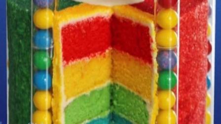 糖果彩虹蛋糕, 色彩丰富, 童趣十足