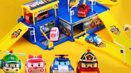 猪猪侠变形警车珀利大扫除 公交车小汽车救护车玩具