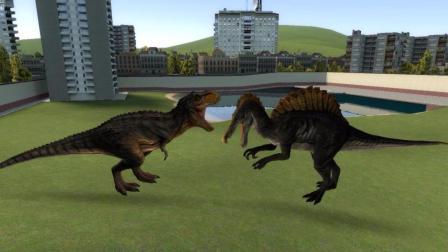 GMOD 史前霸王龙VS远古棘龙, 究竟谁才是真正陆地的霸主