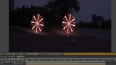 AE光影动画视频第一场景第三期, 图形动画与拍摄实景结合制作