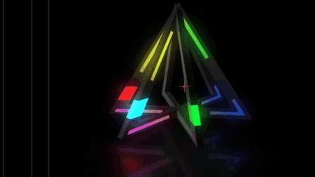 AE光影动画视频第二场景第一期, E3D制作形状跑马灯效果