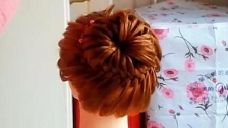 非常漂亮的花苞丸子头编发教程一步步教时尚