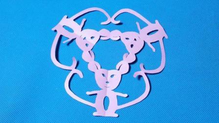 剪纸小课堂351: 老鼠团花剪纸教程大全 儿童亲子手工DIY教学 简单剪纸艺术