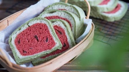 你吃过这样的吐司吗? 里面藏着一个西瓜