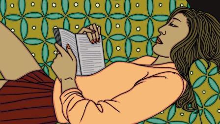 辰晓爱画画No.355《言情小说》阅读, 是心灵的旅行