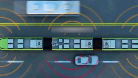 中国首创无轨列车-_跑在虚拟轨道上-_美日都羡慕了
