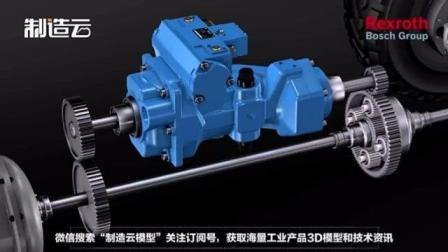 超直观机械原理动画, 液压机械传动装置原来是这