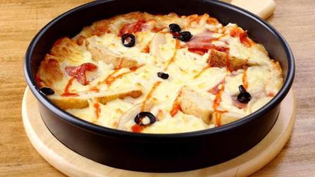 土豆泥披萨: 教你不用烤箱也可以做美味的披萨