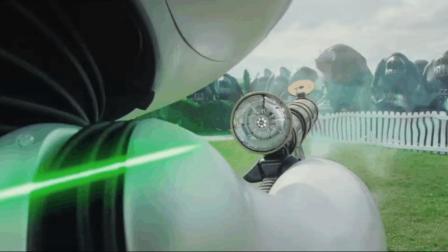 """机器人只用了一把枪, 意外搞定了一群""""外星怪物"""", 看笑了!"""