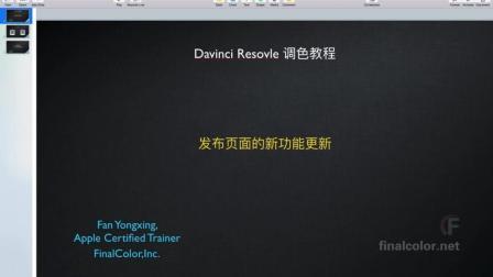 达芬奇14 调色教程 - 发布页面的新功能