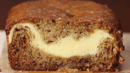 美味的香蕉乳酪蛋糕, 看着就流口水了