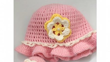 糖糖手作   (第32集)   超可爱宝宝太阳帽   钩针编织    毛线编织