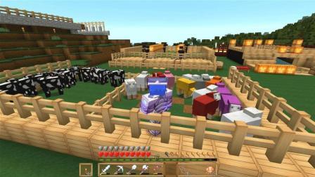 我的世界生存第146期(多彩世界更新, 牛羊养殖场)