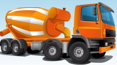 搅拌车运输水泥 挖掘机工作超长视频表演大全 工程车 推土机 汽车 挖土机玩具视频