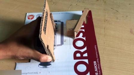 废弃纸箱自制饼干售货机 投币自动出货糖果自动贩卖机手工DIY