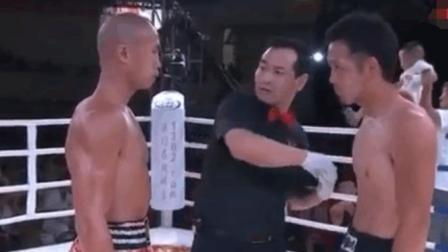 日本拳王竟敢怒视中国军人拳王, 结果惨遭暴打KO到无法站立!