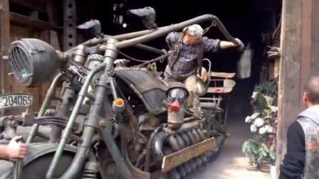 世界上最大号的摩托车, 真不知道他是怎么做出来的