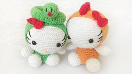 【小脚丫】十二生肖(主体4)毛线钩法毛线玩具的钩法学钩玩偶属相鸡玩偶玩具鸡用毛线钩织