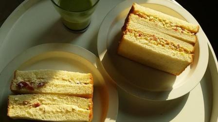 可口的三明治(蔓越莓奶酪馅、红糖鸡蛋沙拉酱馅)